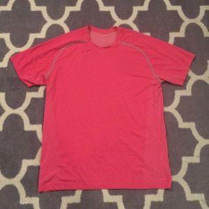 Lululemon mens pink silvertech workout shirt - XL